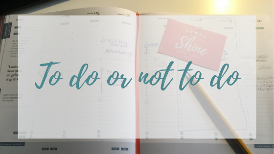 To do or not to do…